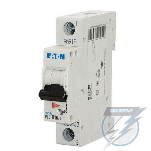 Автоматический выключатель Eaton PL6-B16/1