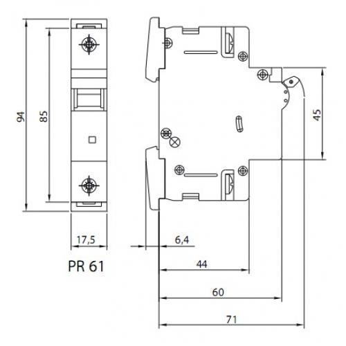 Автоматический выключатель PR61-C 25