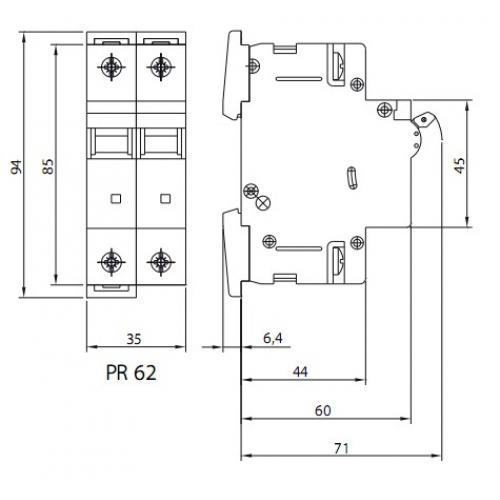Автоматический выключатель PR62-C 10