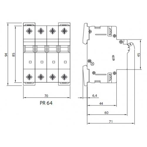 Автоматический выключатель PR64-C 25