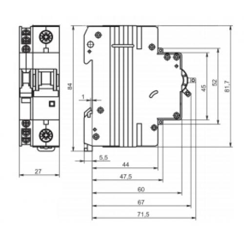 Автоматичекский выключатель ВМ63-B16 1P