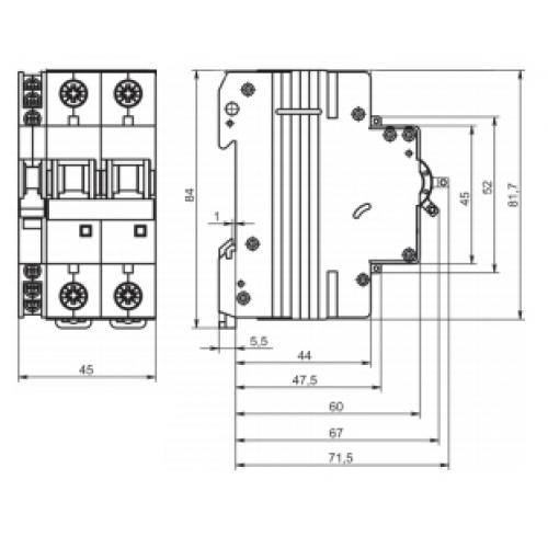 Автоматичекский выключатель ВМ63-B2 2P