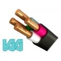 Кабель силовой ВВГ 3 х 2,5 + 1 х 1,5 | медный кабель